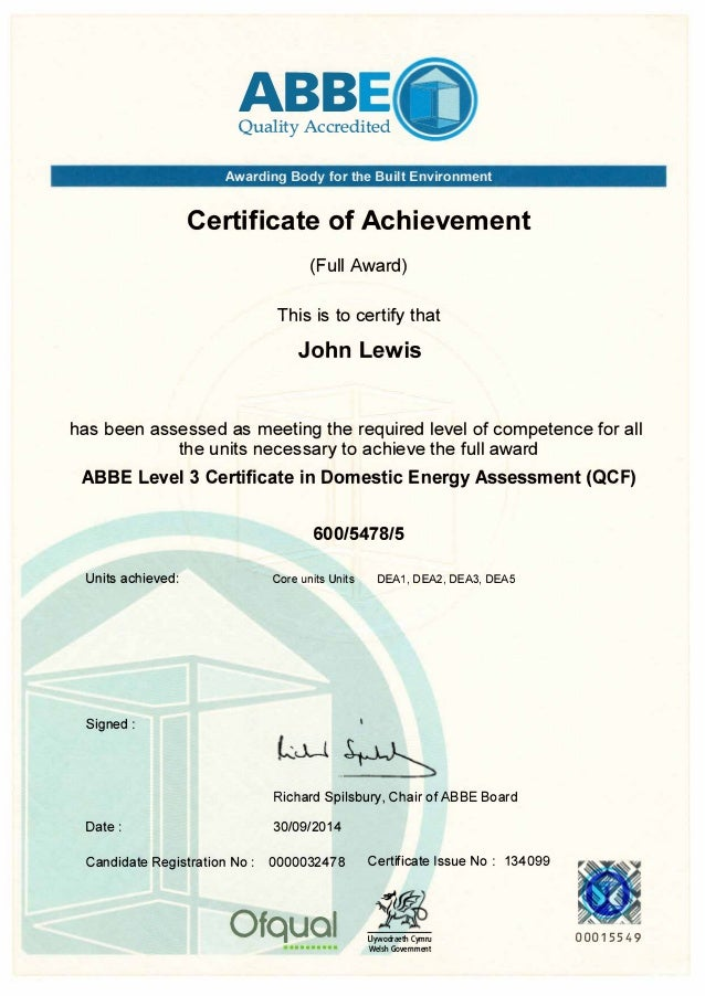TAQA – Level 3 Certificate in Assessing Vocational Achievement