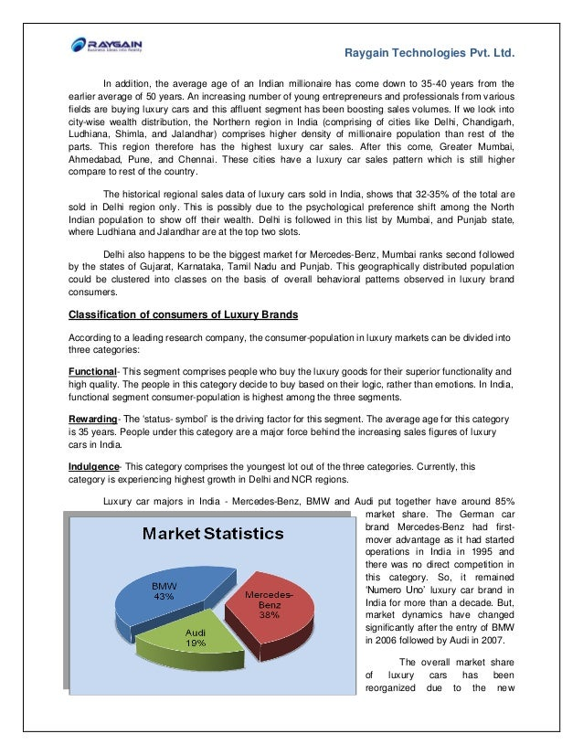 Indian Luxury Car Market Case Study By Raygain Technologies