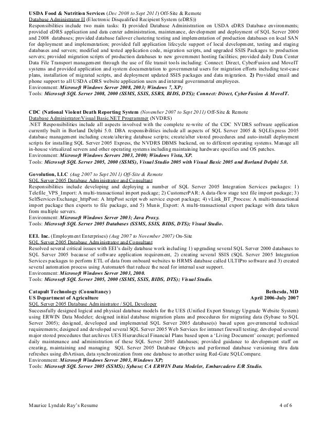 professional resume of maurice l ray march92015