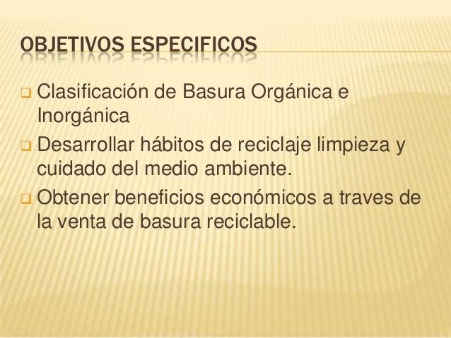 451 clasificaci n de basura org nica e inorg nica for Objetivo de bano de basura
