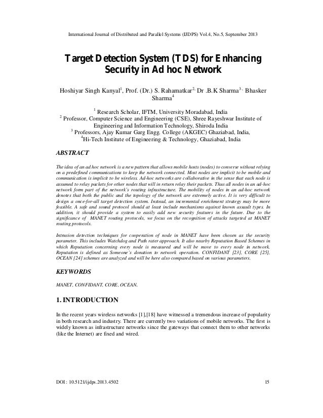 International Journal of Distributed and Parallel Systems (IJDPS) Vol.4, No.5, September 2013 DOI : 10.5121/ijdps.2013.450...