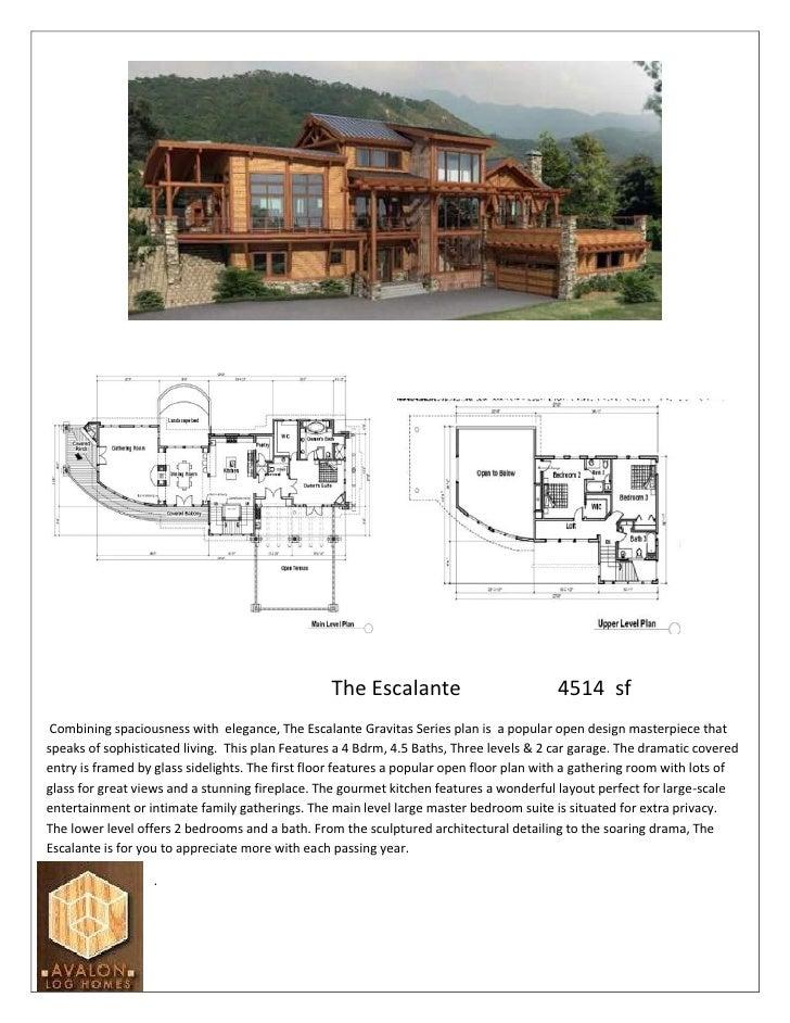 The Escalante                           4514 sf  Combining spaciousness with elegance, The Escalante Gravitas Series plan ...