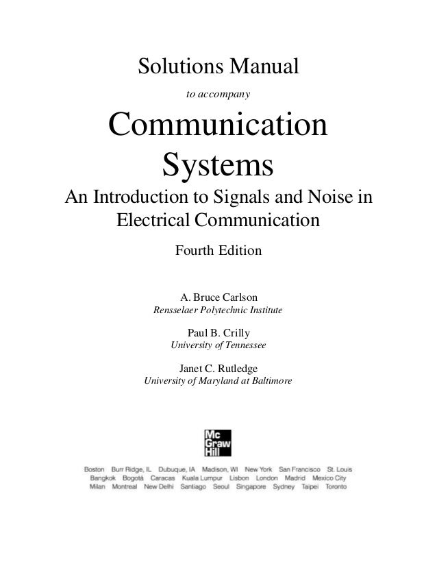 principles of electronic communication systems 4th edition solution manual pdf
