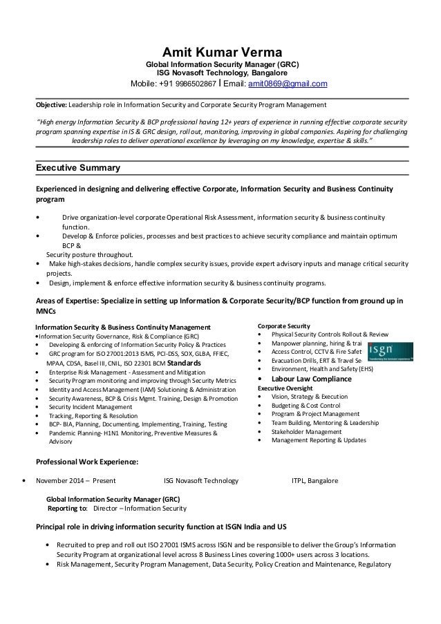 Corporate Security Resume. corporate attorney resume free resume ...