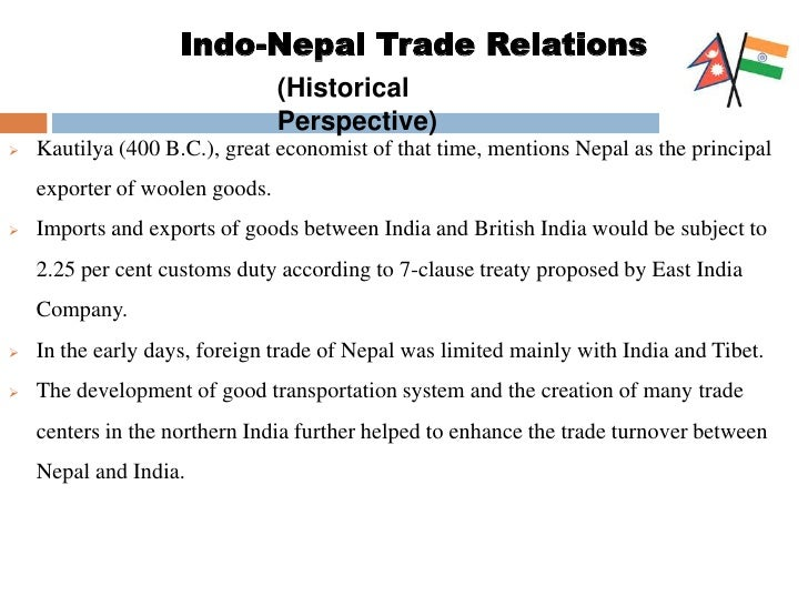 economic relationship between india and nepal map