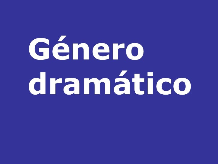 Génerodramático