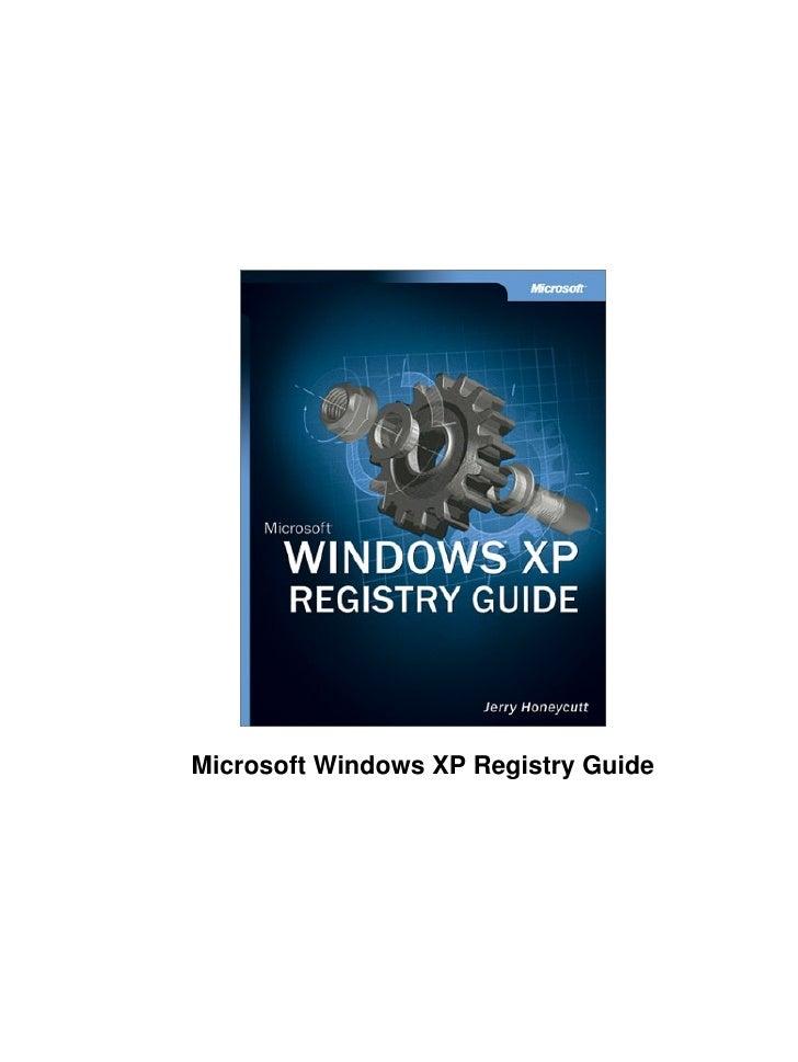 Windows XP Registry Guide