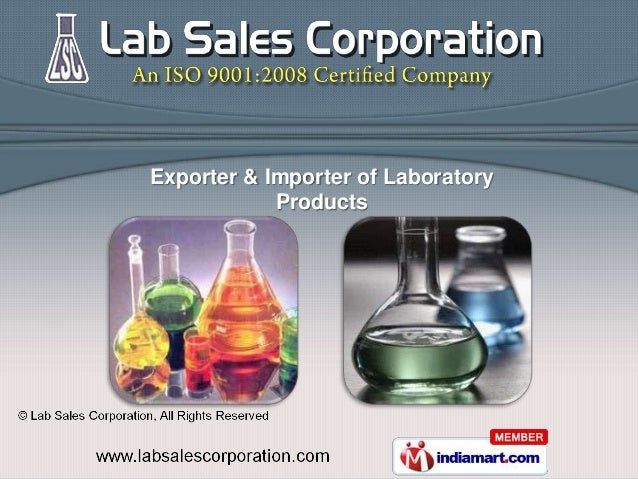Exporter & Importer of Laboratory            Products