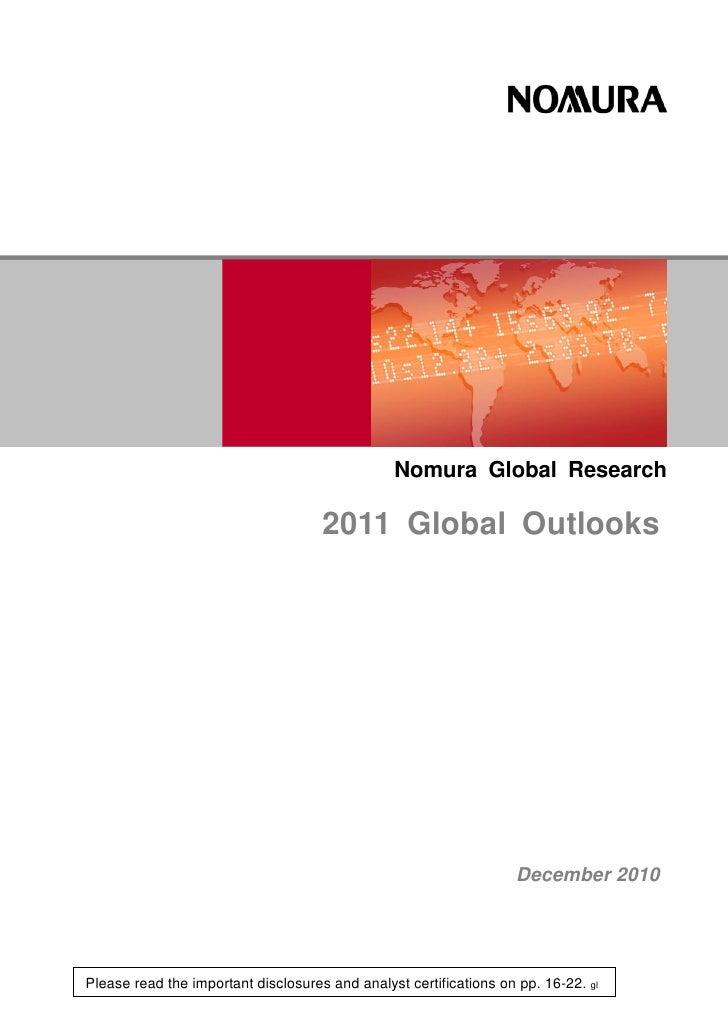 Nomura Global Research                                     2011 Global Outlooks                                           ...