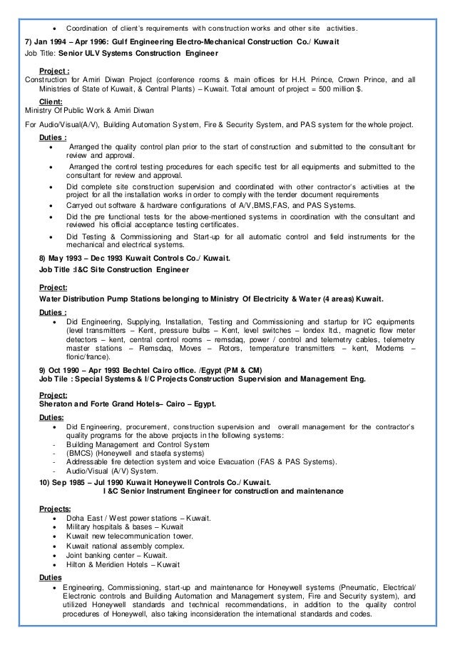 CV of Senior ELV%2c Special & Electrical Systems Engineer (Amr Gam…