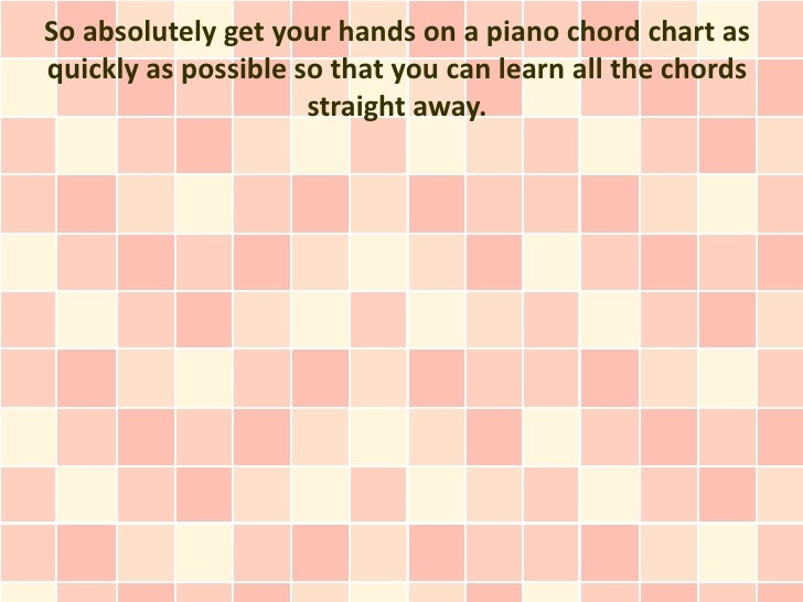 Is It Crucial To Study The Piano Chords