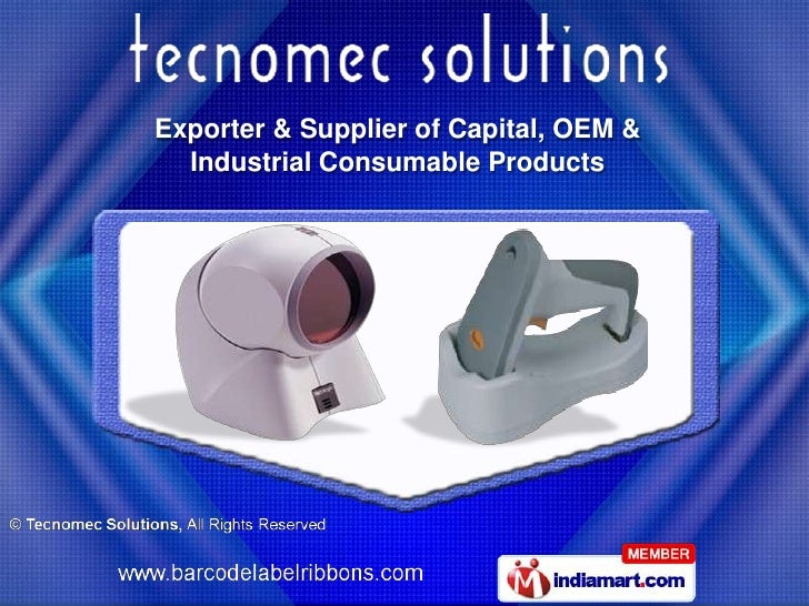 Exporter & Supplier of Capital, OEM &  Industrial Consumable Products
