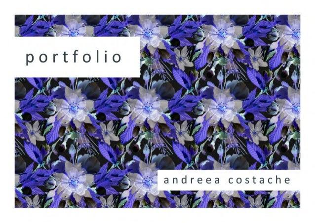 Andreea Costache textile print portfolio