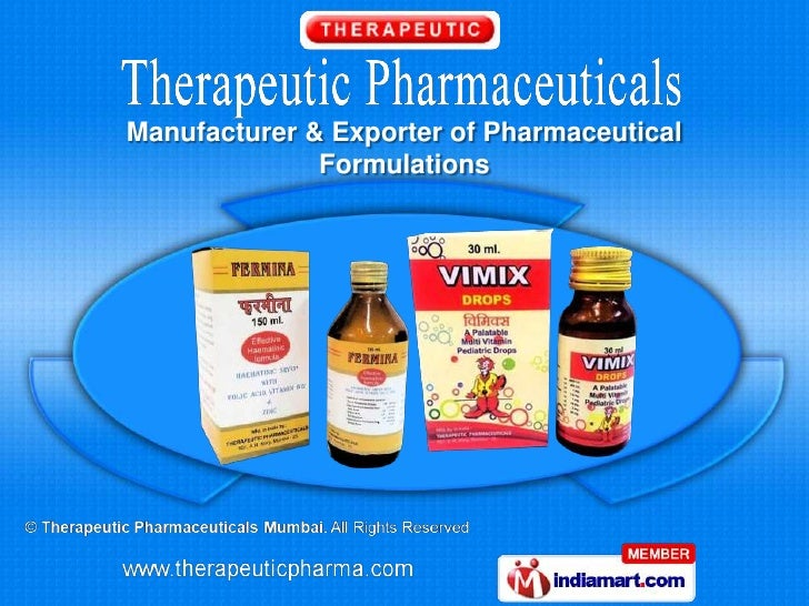 Manufacturer & Exporter of Pharmaceutical              Formulations