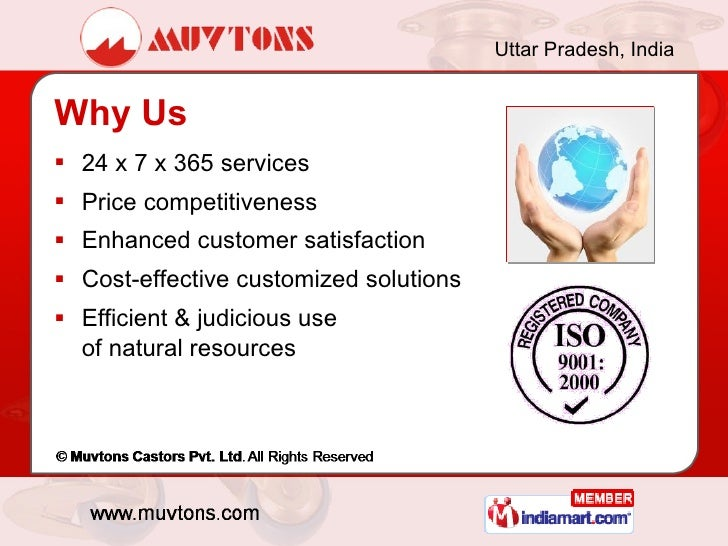 Muvtons Castors Pvt Ltd Noida India