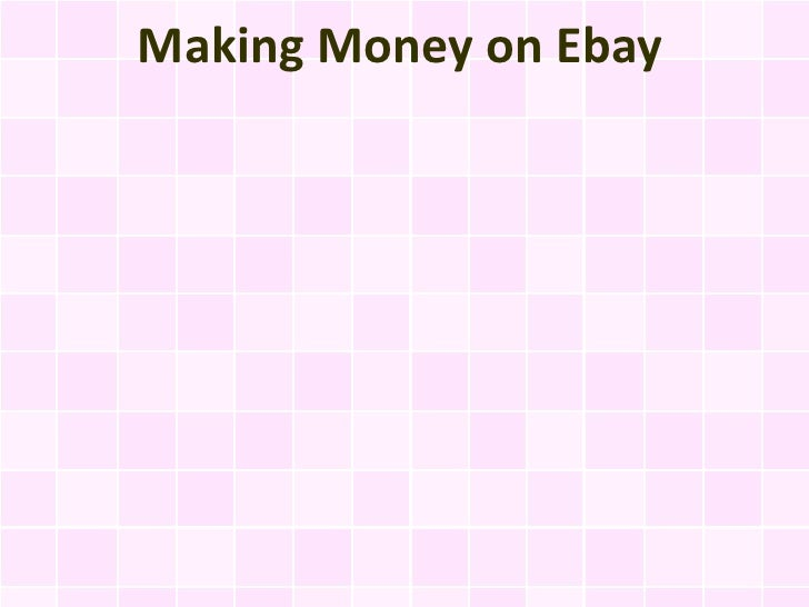 Making Money on Ebay