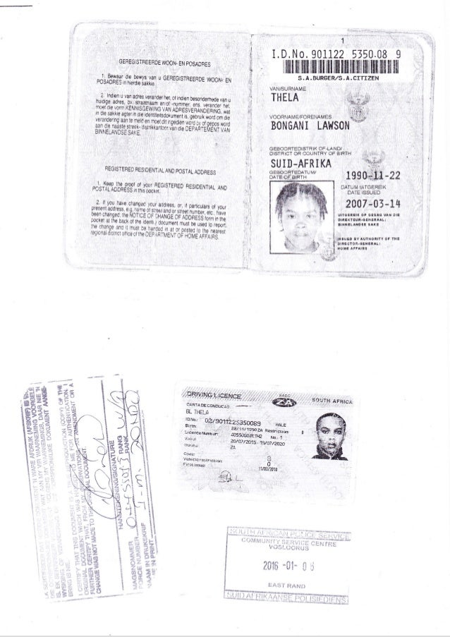 ID and Qualifications