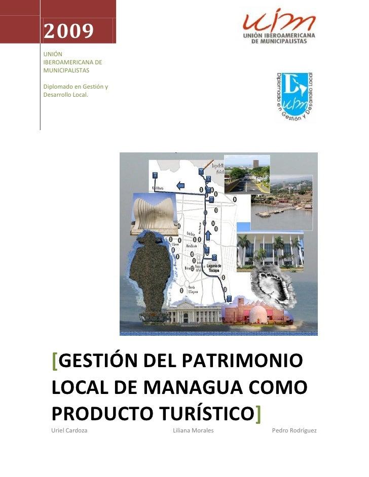 2009 UNIÓN IBEROAMERICANA DE MUNICIPALISTAS  Diplomado en Gestión y Desarrollo Local.       [GESTIÓN DEL PATRIMONIO   LOCA...