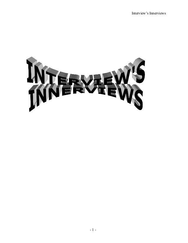 Interview's Innerviews - 1 -
