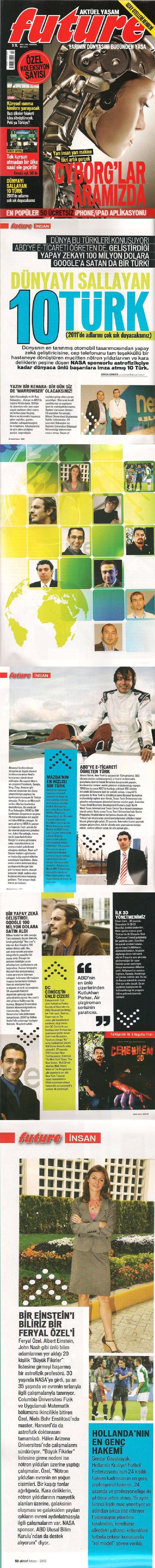 Aktuel Future Dergisi- Dunyayı sallayan 10 Turk
