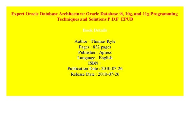 Pdf database architecture 11g expert oracle