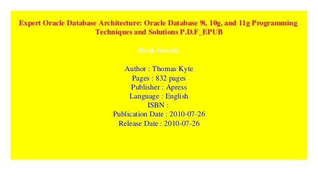 Pdf database architecture 11g expert oracle