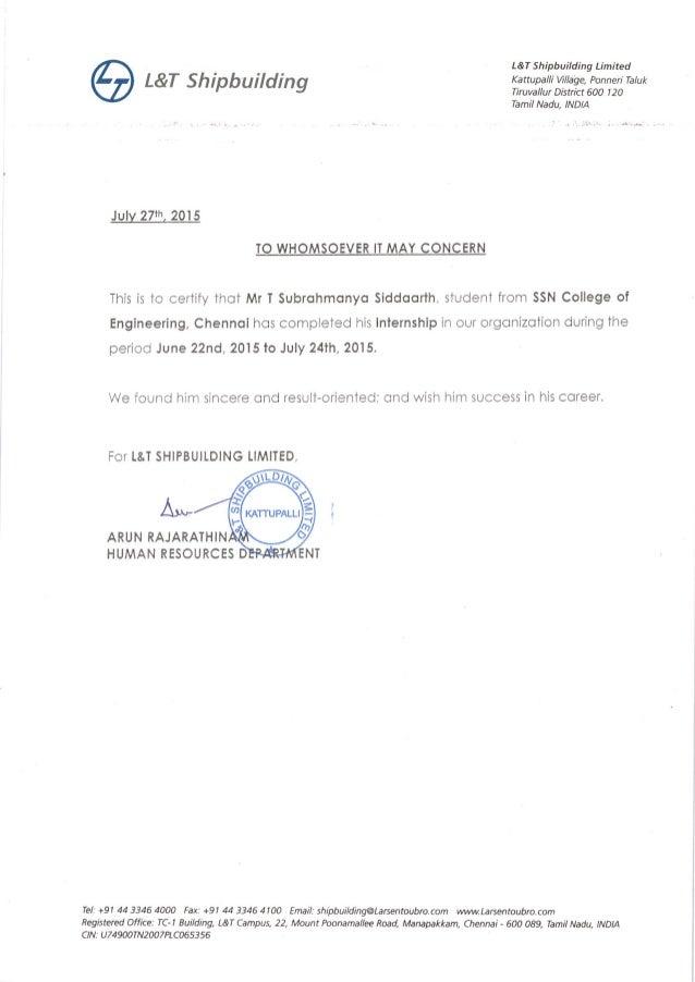 internship completion letter dolap magnetband co