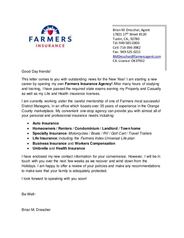 Gallery of insurance marketing letter for Insurance marketing letters