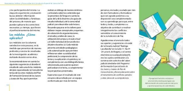 Herramientas Jurídicas y Psicosociales de la Jurisdicción Especial de Justicia de Paz 28 los servicios públicos. Las calle...