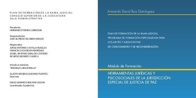 Herramientas Jurídicas y Psicosociales de la Jurisdicción Especial de Justicia de Paz 8 9 Tabla de contenido 1.1.1 Sometim...