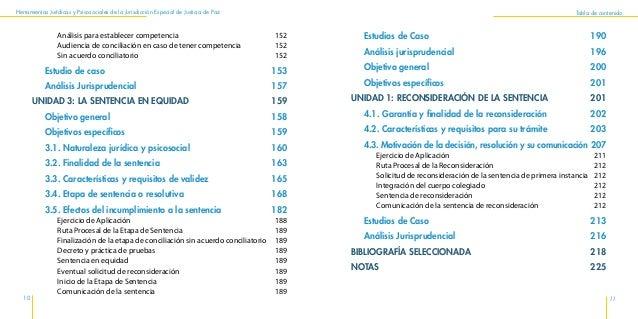 Herramientas Jurídicas y Psicosociales de la Jurisdicción Especial de Justicia de Paz 14 15 Presentación del Programa de u...