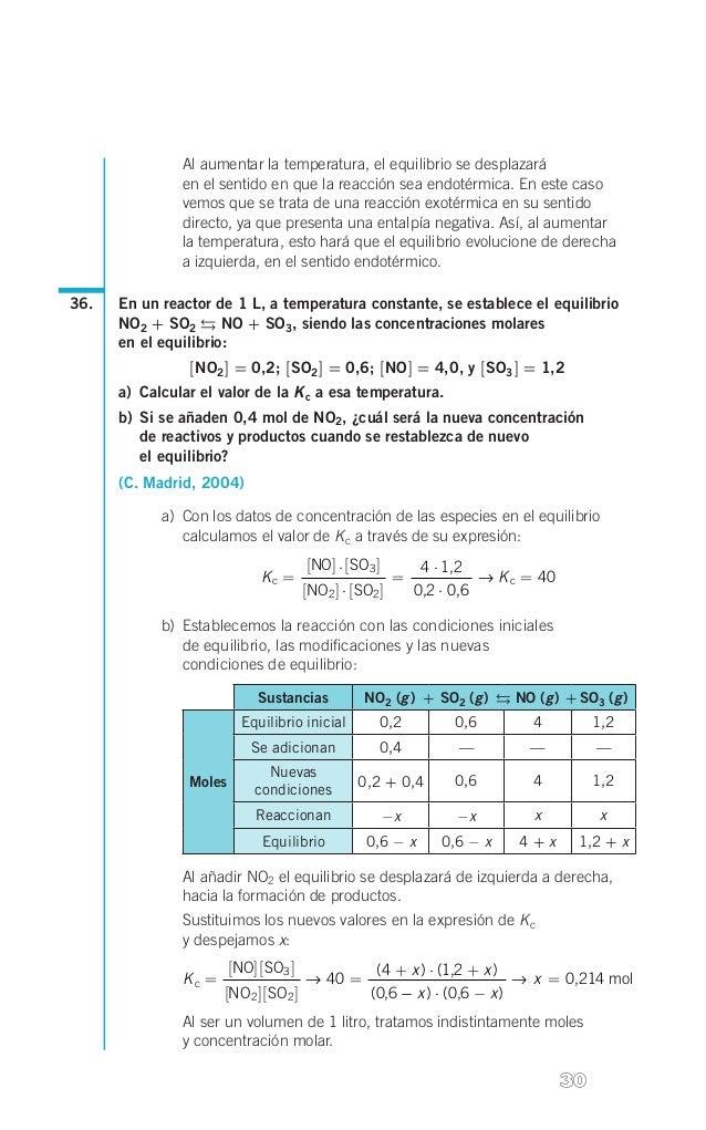 s  Al aumentar la temperatura, el equilibrio se desplazará  en el sentido en que la reacción sea endotérmica. En este cas...