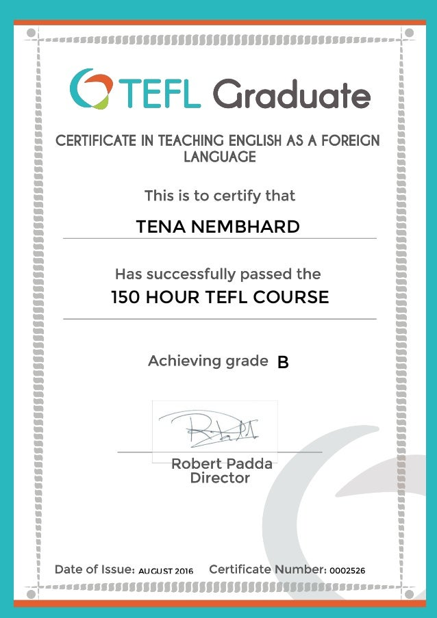 tefl certificate 0002526.tena nembhard