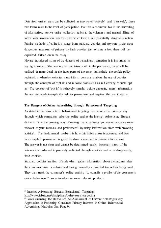 Dangers of the internet essay
