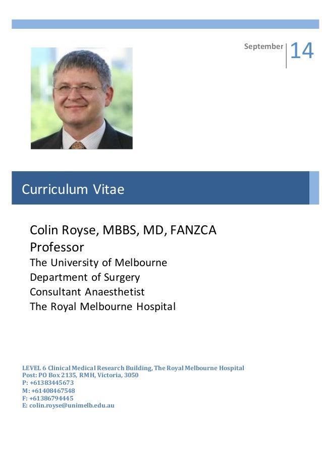 Cv Colin Royse November 2014