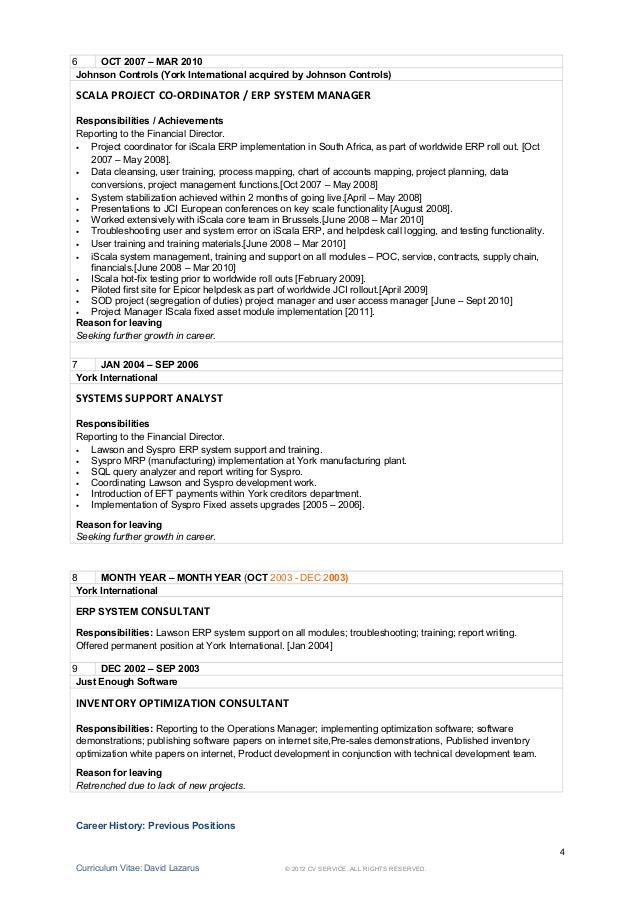 resume - david lazarus 21 05 2015