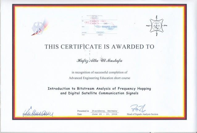 Bitstream Analysis Certificate Germany