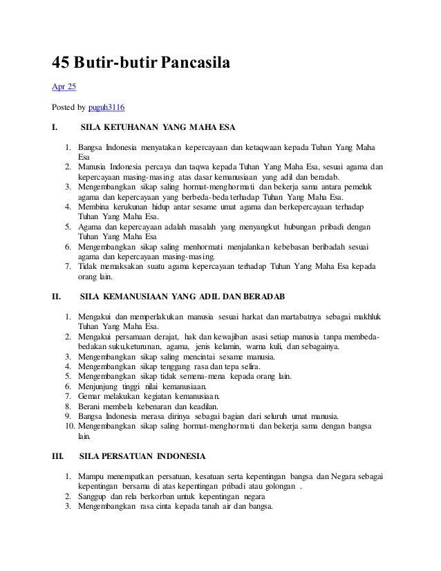 Butir-butir Pancasila Pdf