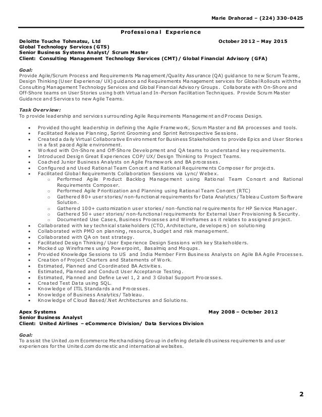 program analyst resume volumetrics co sample resume of healthcare - Business Systems Analyst Resume