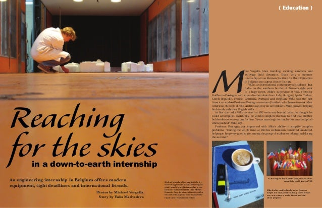 Reaching for the skies An engineering internship in Belgium offers modern equipment, tight deadlines and international fri...