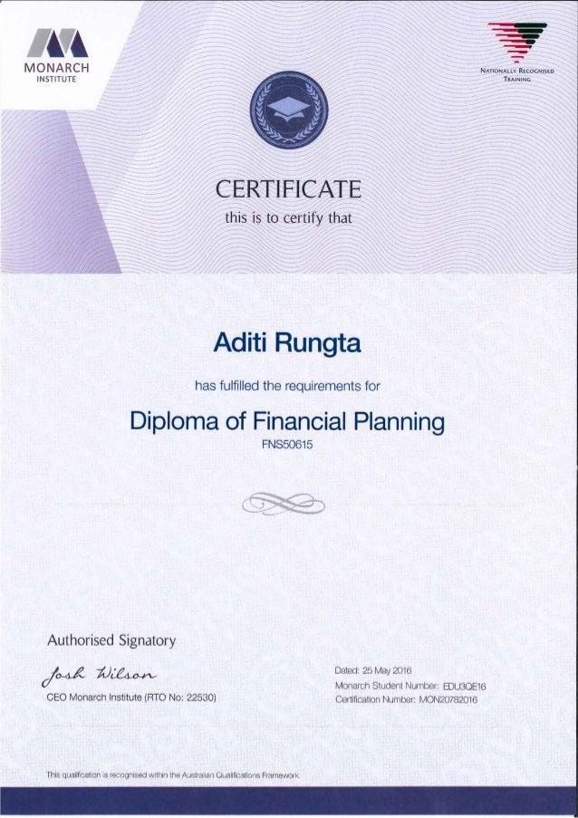 DFP+SMSF Certificate