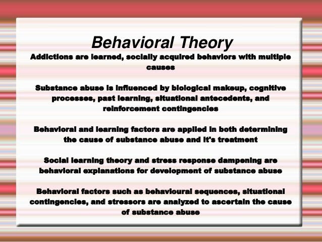 behavioral explanation Behavioral theories of depression explain the etiology of depression based on the behavioural sciences, and they form the basis for behavioral therapies for depression.