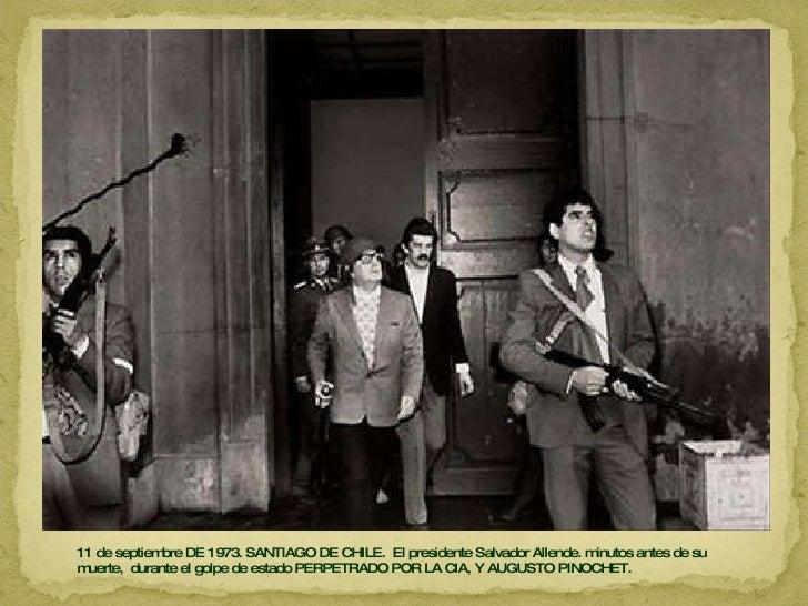 11 de septiembre DE 1973. SANTIAGO DE CHILE.  El presidente Salvador Allende. minutos antes de su muerte,  durante el golp...