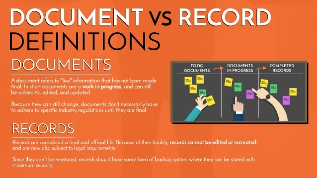 Records Vs Documents The Difference And How Best To