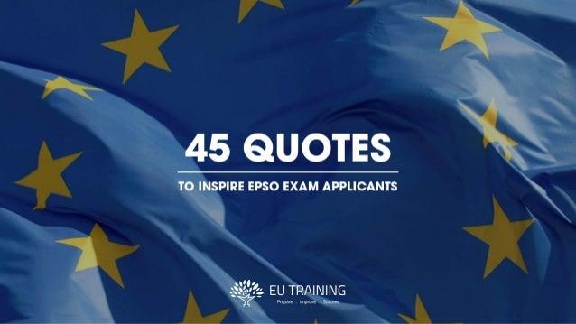 45 quotes to inspire epso exam applicants