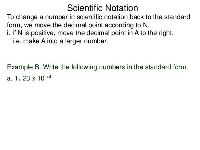 45scientific Notation
