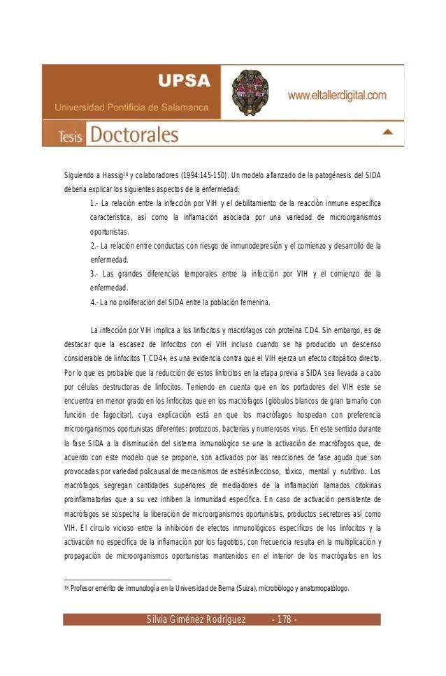 Silvia Giménez Rodríguez - 178 - Siguiendo a Hassig18 y colaboradores (1994:145-150). Un modelo afianzado de la patogénesi...