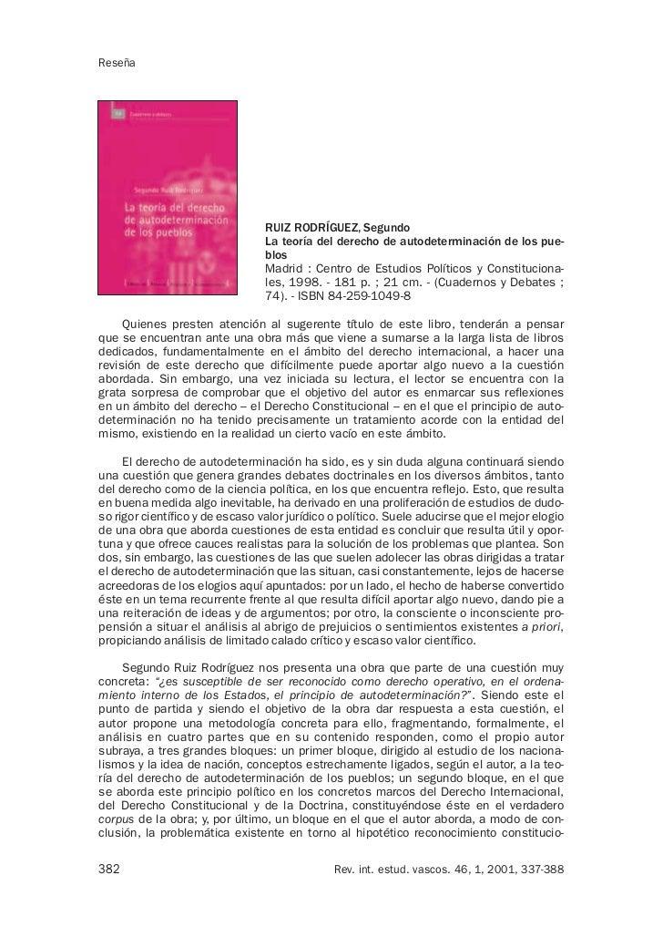 Reseña                                 RUIZ RODRÍGUEZ, Segundo                                 La teoría del derecho de au...