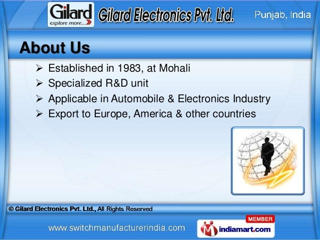 About Us    Established in 1983, at Mohali    Specialized R&D unit    Applicable in Automobile & Electronics Industry ...