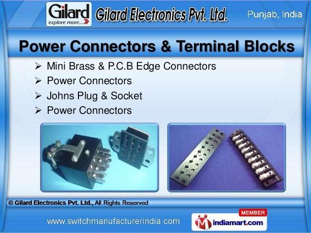 Power Connectors & Terminal Blocks    Mini Brass & P.C.B Edge Connectors    Power Connectors    Johns Plug & Socket   ...